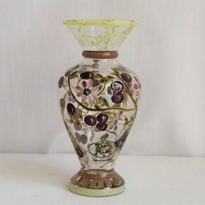 Hand Painted Tracy Porter Flared Ruffled Rim Vase